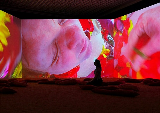 Lungenflügel , 2009 Audio video installation Installation view, 'Elixir – The video organism of Pipilotti Rist', Museum Boijmans van Beuningen, Rotterdam, Netherlands, 2009 Photo: Ernst Moritz