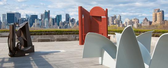 Anthony Caro, esculturas, no terraço do MET, 2011