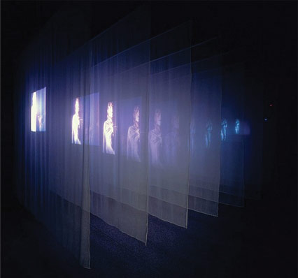 Bill Viola, The Veiling, 1995, video still