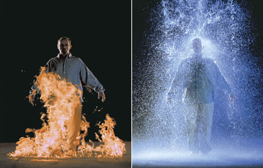 Bill Viola, The Crossing, 1996, video sound installation