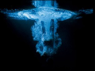 "Bill Viola, ""Five Angels for The Millennium - 'Departing Angel'', 2001, video sound installation"