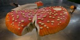 Carsten Höller, Giant Triple Mushrooms, 2010. Courtesy the artist.