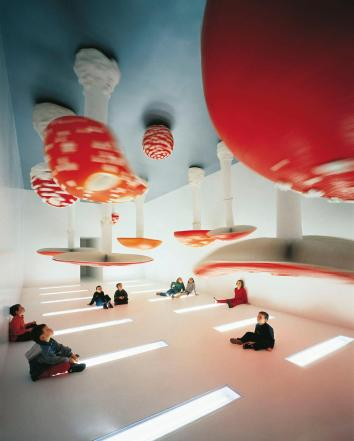 Carsten Höller, Upside Down Mushroom Room, 2000 , exhibited at Fondazione Prada Milan