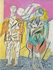 Willem de Kooning, Untitled (Man and Woman), 1947/ 48