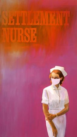 Richard Prince, Settlement Nurse, 2003 Ink jet and acrylic on canvas 83 x 47 inches 210.8 x 119.4 cm