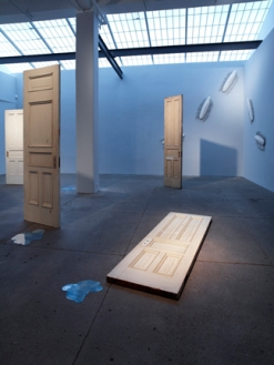 Yoko Ono, Installation view: Uncursed, 2011 Pictured: Doors, 2011; Droppings, 2011; Centipedes, 2011, © Galerie Lelong NY, 2011