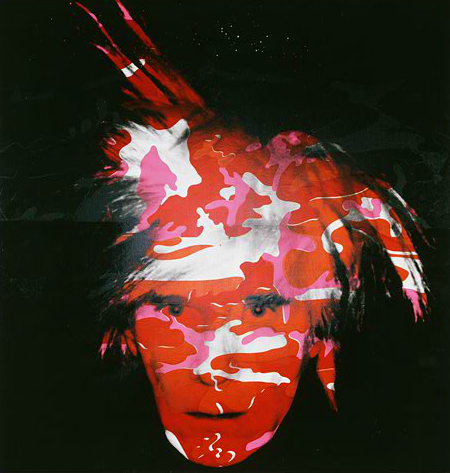 Camouflage Self-Portrait (Red),  Andy Warhol (1928-1987), Philadelphia Musuem of Art, © The Andy Warhol Foundation for Visual Arts, Inc. Artists Right Society (ARS), NY.