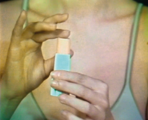 Sanja Iveković. Make Up—Make Down. 1978. Video (color, sound), 5:14 min. The Museum of Modern Art, New York. Gift of Jerry I. Speyer and Katherine G. Farley, Anna Marie and Robert F. Shapiro, Marie-Josée and Henry R. Kravis, and Committee on Media and Performance Art Funds. © 2011 Sanja Iveković
