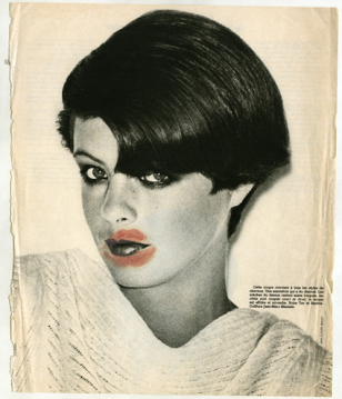Sanja Iveković. My Scar. My Signature (Girls). 1976. Lipstick on magazine page. Collection the artist. © 2011 Sanja Iveković