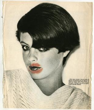 Sanja Iveković. My Scar. My Signature (Girls). 1976. Lipstick on magazine page. Collection the artist. © 2011 Sanja Iveković