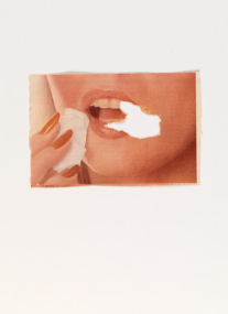 "Paper Women. 1976–77. Four from a series of 12. Torn printed paper, 11 15/16 x 8 9/16"" (30.3 x 21.7 cm). MACBA Collection. Fundació Museu d'Art Contemporani de Barcelona. © 2011 Sanja Iveković"