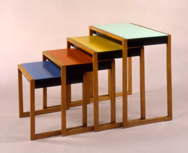 © Josef Albers, Set of four stacking tables, c.1927. © The Josef and Anni Albers Foundation/Artists Rights Society, New York and DACS, London 2012