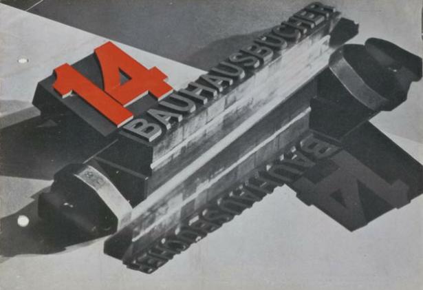 © László Moholy-Nagy, Prospectus cover for14 Bauhausbücher (14 Bauhaus Books), 1928. Stiftung Bauhaus Dessau. © Hattula Moholy-Nagy/DACS 2012