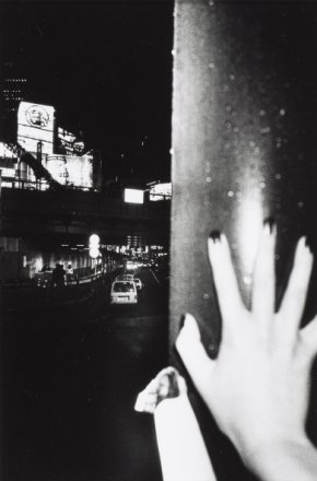Daido Moriyama, Shinjuku #11, 2000, gelatin silver print, 13 1/4 x 9 in., courtesy of Gloria Katz and Willard Huyck. © Daido Moriyama.