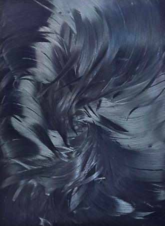 Jason Martin, Dark delft blue/ black, 2011. oleo em aluminio.