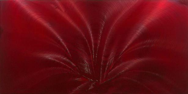 Jason Martin, Fecule, 2004. oleo em cobre. 120 x 240 x 10.