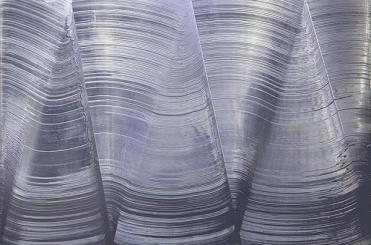 Jason Martin, Detox, 1999, acrilico em aluminio, 244 x 366 x 10. Image via Lisson Gallery.