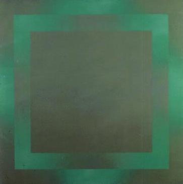 Fernando Calhau, Pintura, 1972, acrílico sobre tela, Colecção MNAC-Museu do Chiado.