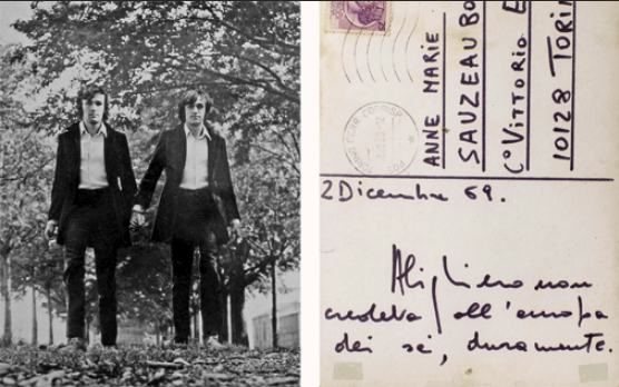 "Gemelli (Twins). 1968 Photomontage. 5 7/8 x 3 15/16"" (15 x 10 cm). Private collection. © 2012 Estate of Alighiero Boetti/Artists Rights Society (ARS), New York/SIAE, Rome"