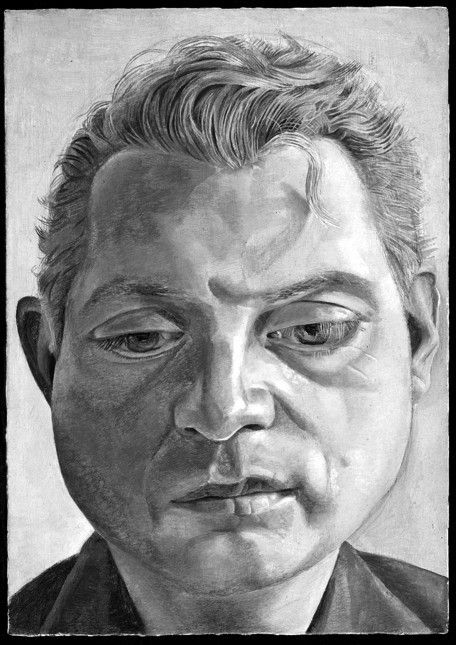 Lucian Freud, Francis Bacon, 1952, oil on copper, 17.8 x 12.8 cm.