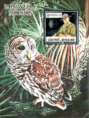 Filipa César, Powell and Owl, 2011, Timbre trouvé / Found stamp, 14,2 x 10,7 cm