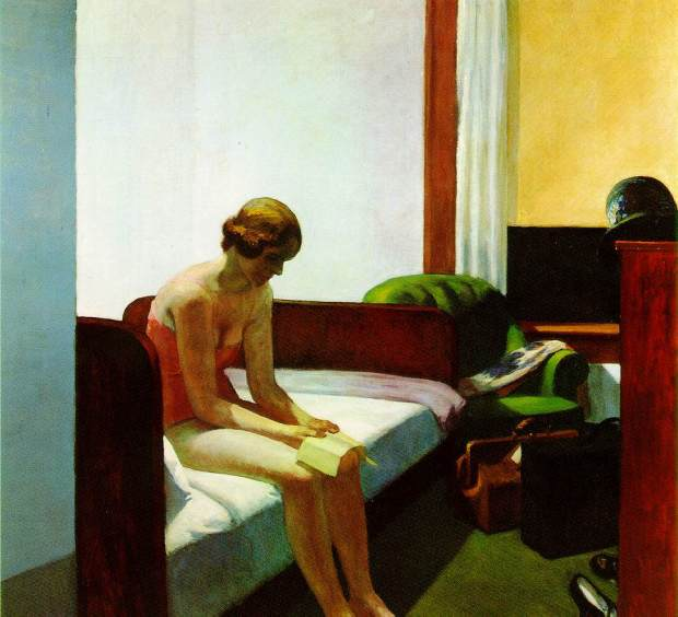 Edward Hopper, Hotel Room, 1931 (150 Kb); Oil on canvas, 60 x 65 inches; Thyssen-Bornemisza Collection.