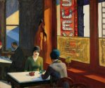 Edward Hopper, Chop Suey, 1929 (130 Kb); Oil on canvas, 32 1/8 x 38 1/8 in; Collection Barney A. Ebsworth.