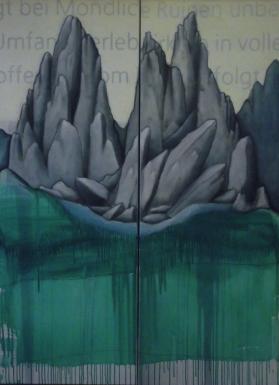 Ana Luísa Ribeiro, FB.1, 2012, Grafite e óleo s/ tela, 140 x 100 cm. cortesia da artista e de Carlos Carvalho, arte contemporânea.