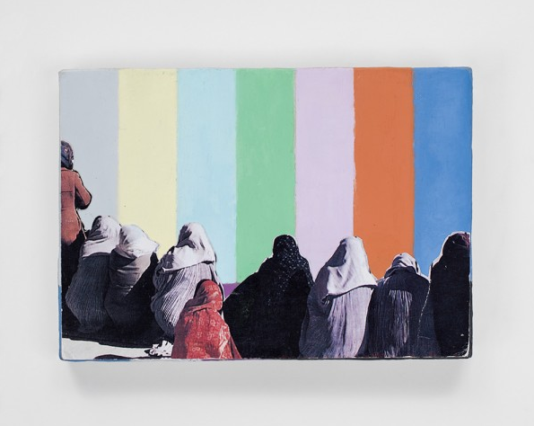 Francis Alÿs, Untitled, 2011-2012, Oil and collage on canvas on wood, 4 7/8 x 6 7/8 inches (12.4 x 17.5 cm). Courtesy the artist and David Zwirner Gallery, NY, 2012.