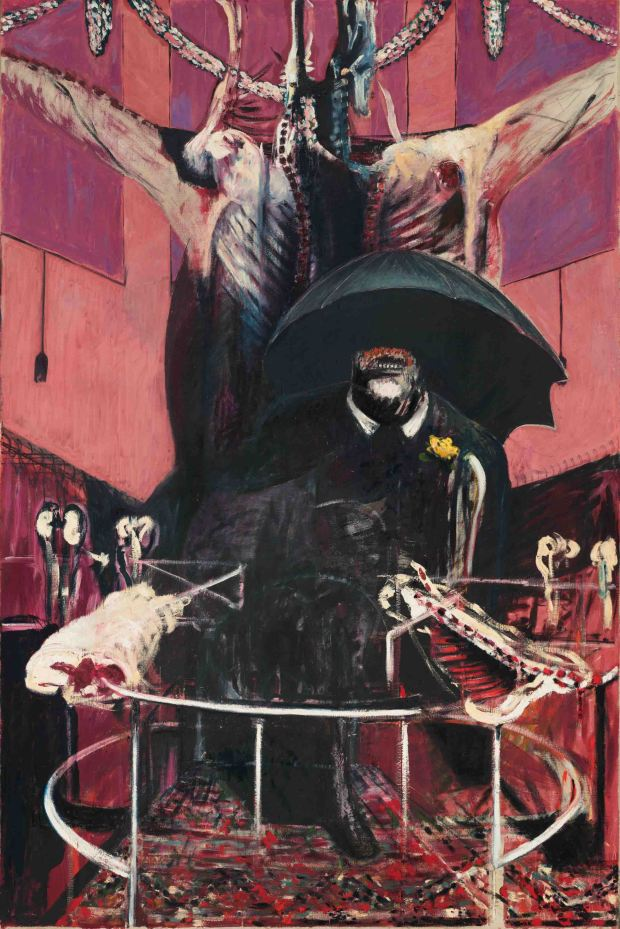 "Francis Bacon, 1946 Painting. Oil and pastel on linen, 6' 5 7/8"" x 52"" (c) 2009 The Estate of Francis Bacon/ARS, New York/DACS, London"
