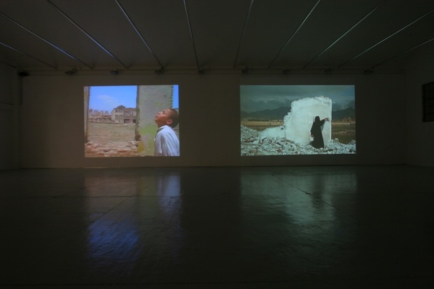 Lida Abdul, Dome, 2005 e White House, 2005. Cortesia da artista e da Galeria Giorgio Persano.