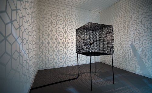 Conrad Shawcross, Slow Arc Inside a Cube IV, 2009; © the artist.