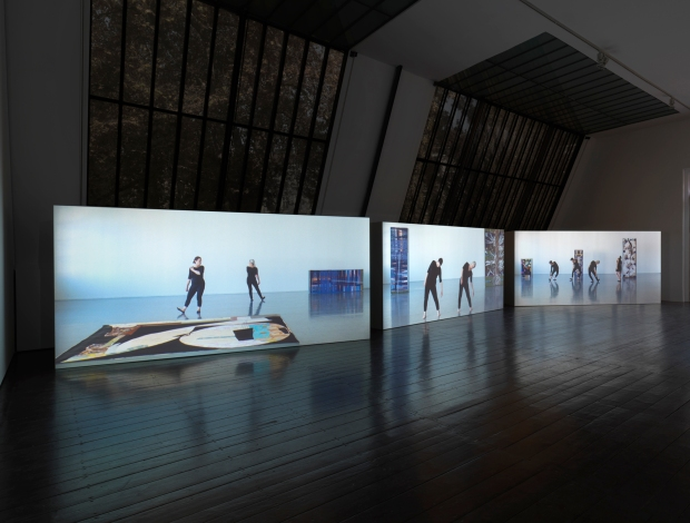 Sharon Lockhart, Five Dances and Nine Wall Carpets by Noa Eshkol, 2011, installation view @ Thyssen-Bornemisza Art Contemporary, 2013.