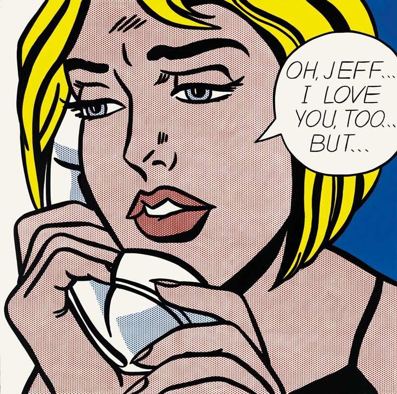 Roy Lichtenstein, Oh, Jeff...I  Love You, Too ..., But..., 1964. Collection Simonyi. © Estate of Roy Lichtenstein.