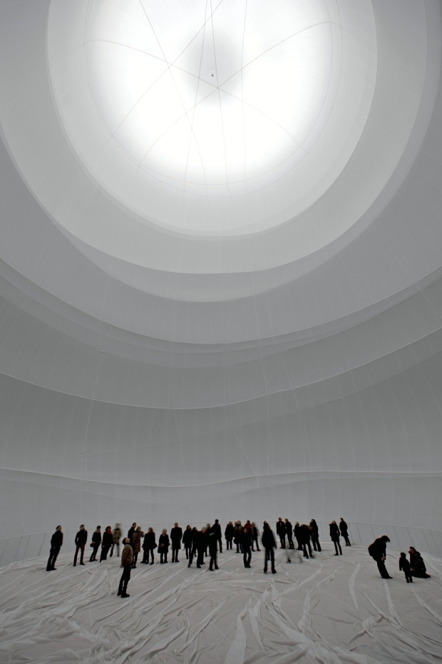 ChristoBig Air Package, Gasometer Oberhausen, Germany, 2010-13, Photo: Wolfgang Volz © 2013 Christo