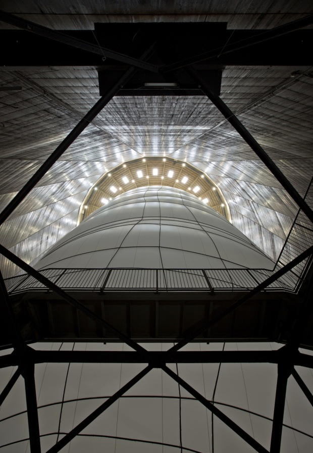 Christo, Big Air Package, Gasometer Oberhausen, Germany, 2010-13, Photo: Wolfgang Volz © 2013 Christo