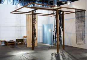 Leonor Antunes, Discrepancies with T.P.  2012, Vista do estande na Arco Art Fair Madrid, Isabella Bortolozzi Gallery, 2012
