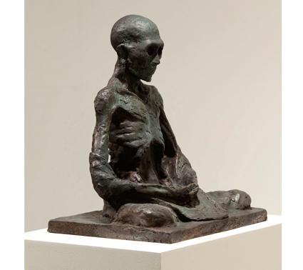 Miguel Branco, Sem Título (Monge) #1, 2011, Bronze, 30 x 28 x 19,5 cm , Col. do artista. © Miguel Branco, cortesia  da Galeria Belo-Galsterer, Lisboa.