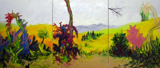 Rui Algarvio, Sem título, óleo sobre tela, (3x116x89cm) 2009/ 2010. © Rui Algarvio. Cortesia do artista.