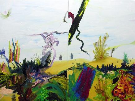 Rui Algarvio, Sem título, óleo sobre tela, 2x (120x80cm) 2009/ 2010. © Rui Algarvio. Cortesia do artista.