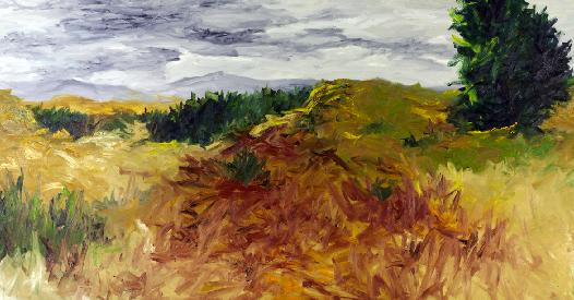 Rui Algarvio, Sem título, óleo sobre tela, (200x380cm) 2008. © Rui Algarvio. Cortesia do artista.