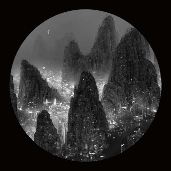 Waning Crescent Moon, 2012, Light box, 140 x 140cm, edição de 7/ 90 x 90 cm, edição de 8.