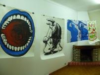 Colectivo O Buraco, vista da exposição Warm Up na Casa Bernardo, Caldas da Rainha, 2013.