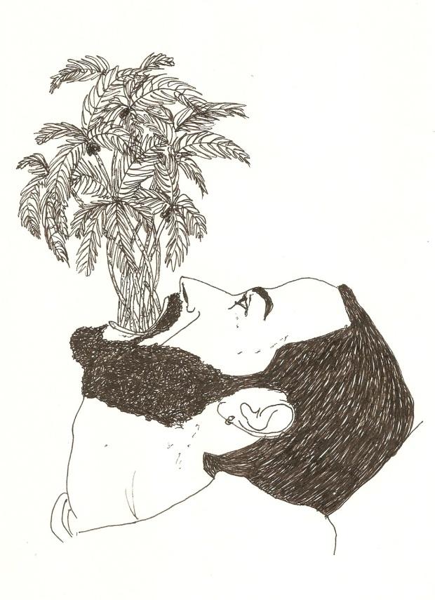 Miguel Bonneville, 'Estudo para ilha', 2013, 14x21,5cm, tinta de gel sobre papel. Cortesia do artista.