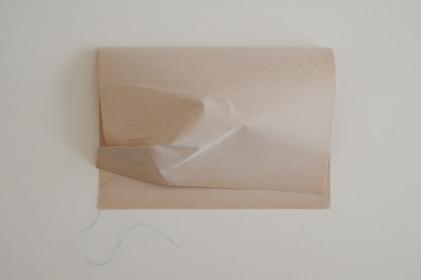 Sónia Baptista, 'A coisa frágil', 2013 papel, linha de coser, alfinetes de dama (dimensões variáveis) © Sónia Baptista