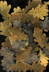 Vicky Sabourin, 'Borealis Alchemy', 2013 feltro, ouro, impressão jacto de tinta, tecido, vitrine (168,5 x 60 x 100 cm) © Vicky Sabourin