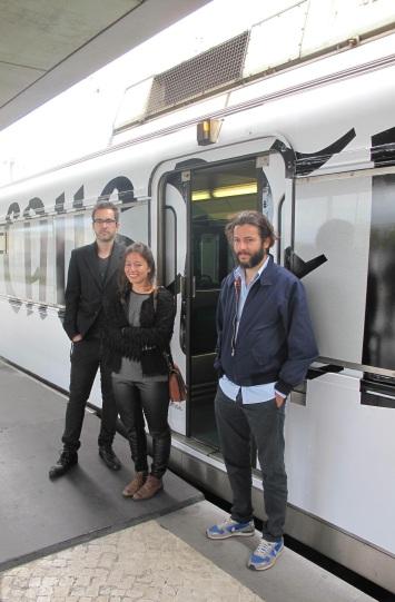 Projecto Janela (P28), na imagem: Bruno Pereira, Francisca Torres e Albert Folch Lisboa, 2013.