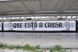 Projecto Janela (P28), intervenção de Albert Folch nos comboios da CP, Lisboa, 2013.
