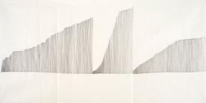 Teresa Gonçalves Lobo, Untitled, 2011, Indian ink on rice paper, 70,5x138cm. Cortesia da artista.
