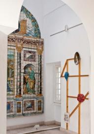 intervenção de Luís Nobre, na exposição 'O Poder do Fazer' no Museu do azulejo em Lisboa.
